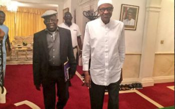 I will never contest against you, Tinubu tells Buhari