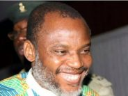 Kanu flouts bail conditions, 'addresses crowd in father's compound'