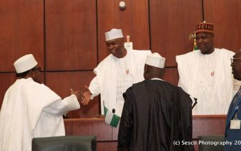 Resubmit confab report for legislative action, Senate to Presidency
