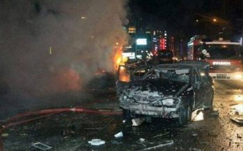 Three killed, 40 wounded in car bomb near Turkish police station