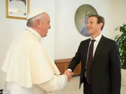 Mark Zuckerberg and wife meet Pope Francis in the Vatican
