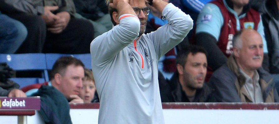 Liverpool manager Jurgen Klopp will not panic buy after Burnley defeat