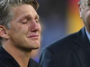 Bastian Schweinsteiger: Emotional Germany midfielder plays last international match