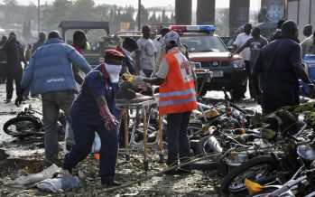 Its still suffering and smiling for bomb blast victims