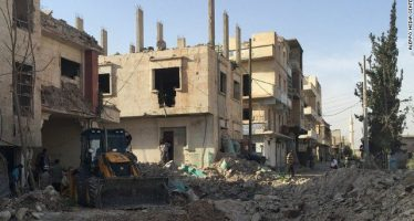 7 people died and others trapped as airstrikes destroyed hospital in Aleppo