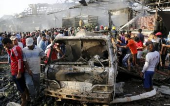 Update: At least 24 killed in Islamic State bombing at busy Baghdad market