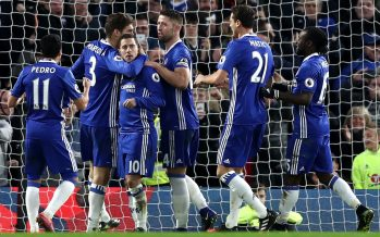Hazard, Fabregas score, Moses shines as Chelsea outclass Iwobi's Arsenal