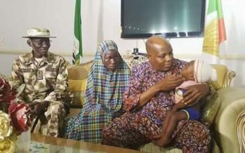 Army hands over rescued Chibok girl- Picture news