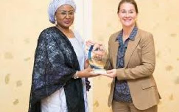 Aisha Buhari receives Bill Gates' wife Melinda Gates(Photos)