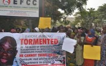 Women protest in Abuja, ask EFCC to arrest Fayose