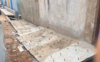 To hinder unwelcome guests, landlady allegedly fixes sharp iron nails in front of house in Lagos