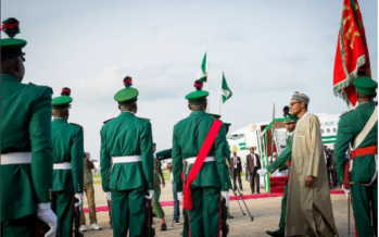 BREAKING: President Buhari finally arrives Nigeria after Nigerians protested at the Abuja house in London