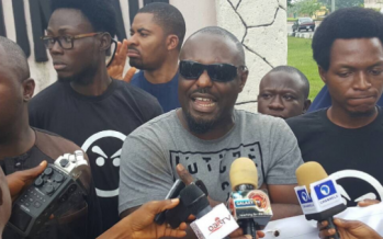 Actor Jim Iyke joins the 'Resume or Resign Protest' in Abuja