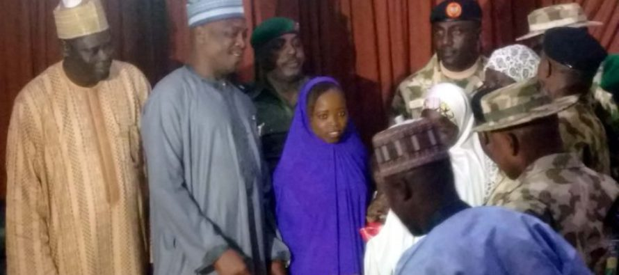 Image result for Military hands over rescued girls to Borno governor