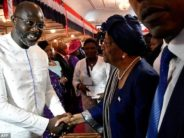 Celebration in Liberia at George Weah's inauguration ceremony