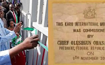 Exposed! How Karu Int'l Market Was Re-Commissioned 16 Years After