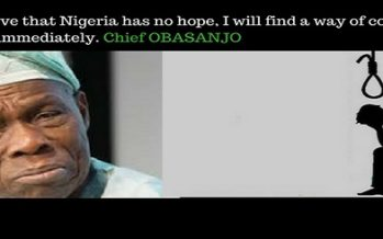 Obasanjo Threatens Suicide For Hopeless Nigeria
