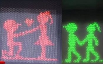 Taiwan traffic lights got romantic redesign for Valentine's Day