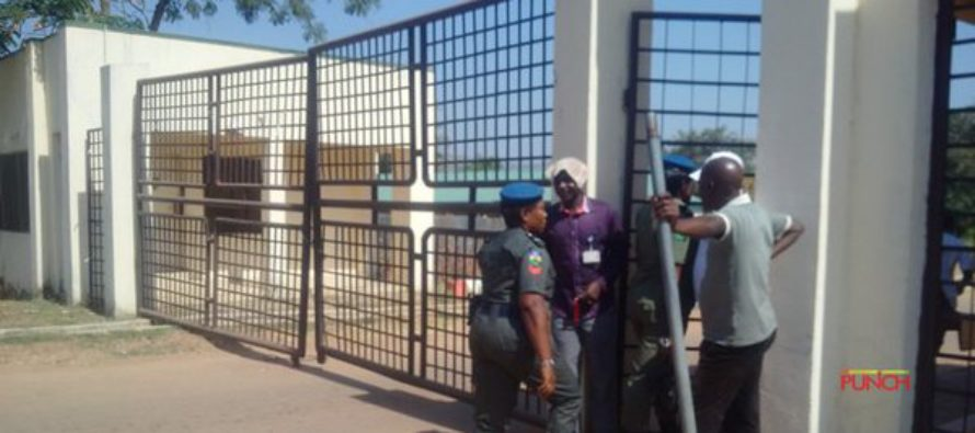 BREAKING: Police Take Over National Assembly, Barricade Entrances