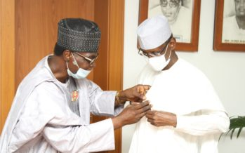 Nigerian Legion Decorates FCT Minister with Armed Forces Remembrance Day Emblem
