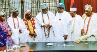 President Buhari's Meeting With Traditional Rulers