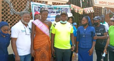 All-Stars FC  Kubwa  Visits Children With Special Needs, Donates Food Other Items