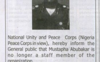 Drama as Young man Declares Self 'Commandant-General, Nigerian Peace Corps