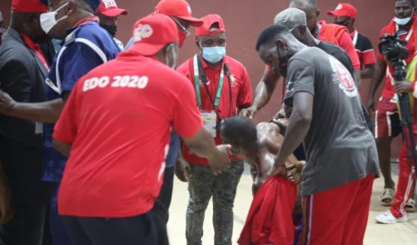 Edo 2020: Sorrow, Tears and Blood As Kick-boxer Beat Up Team Delta Official
