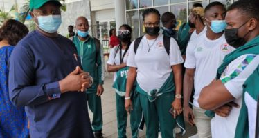 Sports Minister Sees Off Nigeria Relay Team to USA, As 16 athletes Jet Out